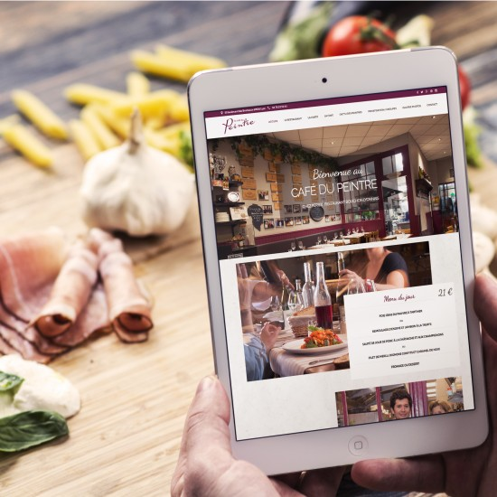refonte site internet café du peintre