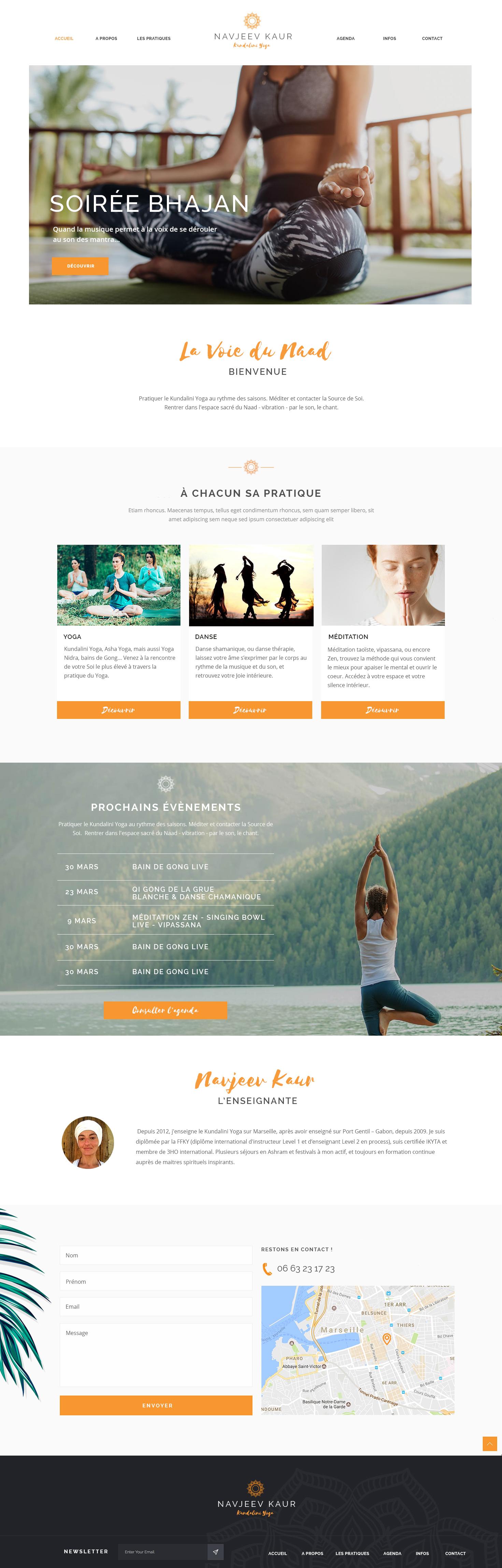Identité visuelle et webdesign La Voie du Naad