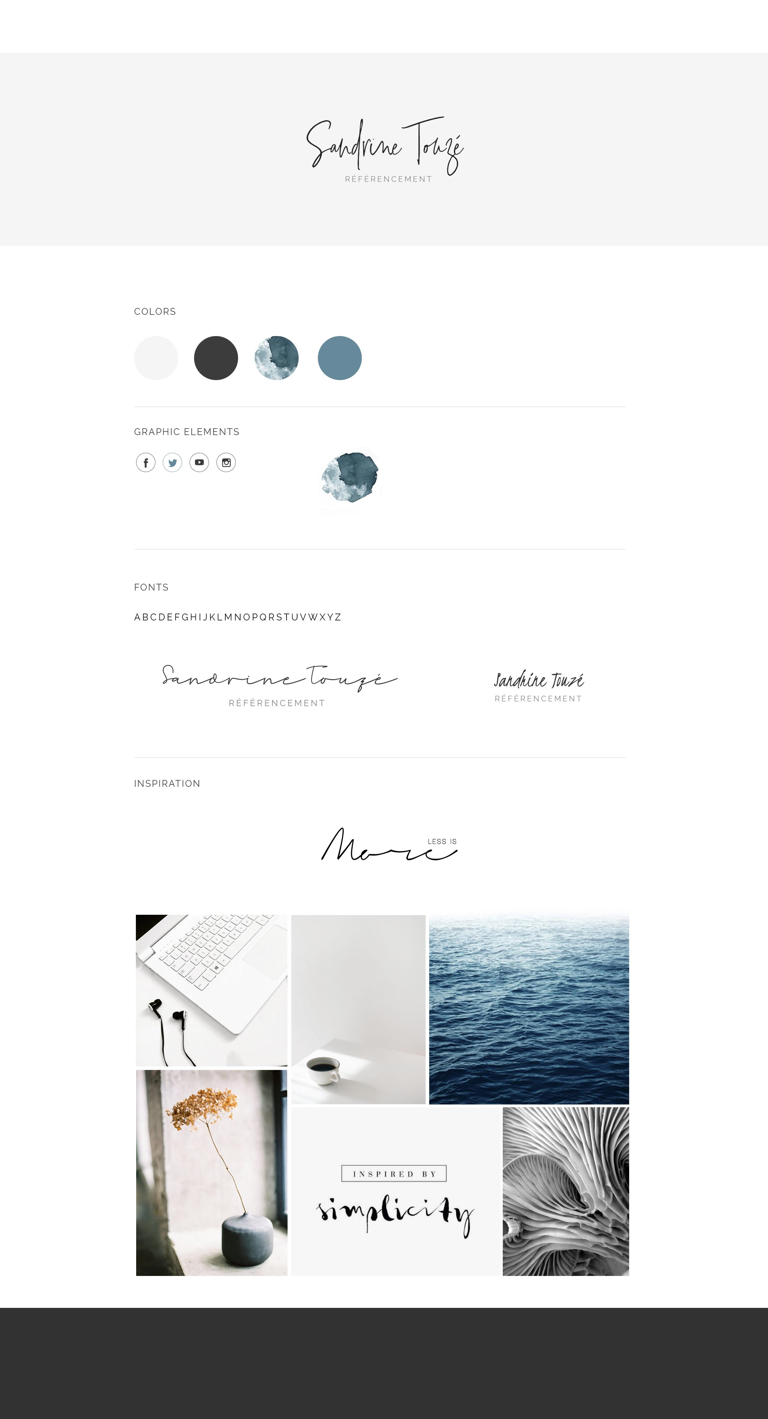 Création d'identité de marque pour Sandrine Touzé