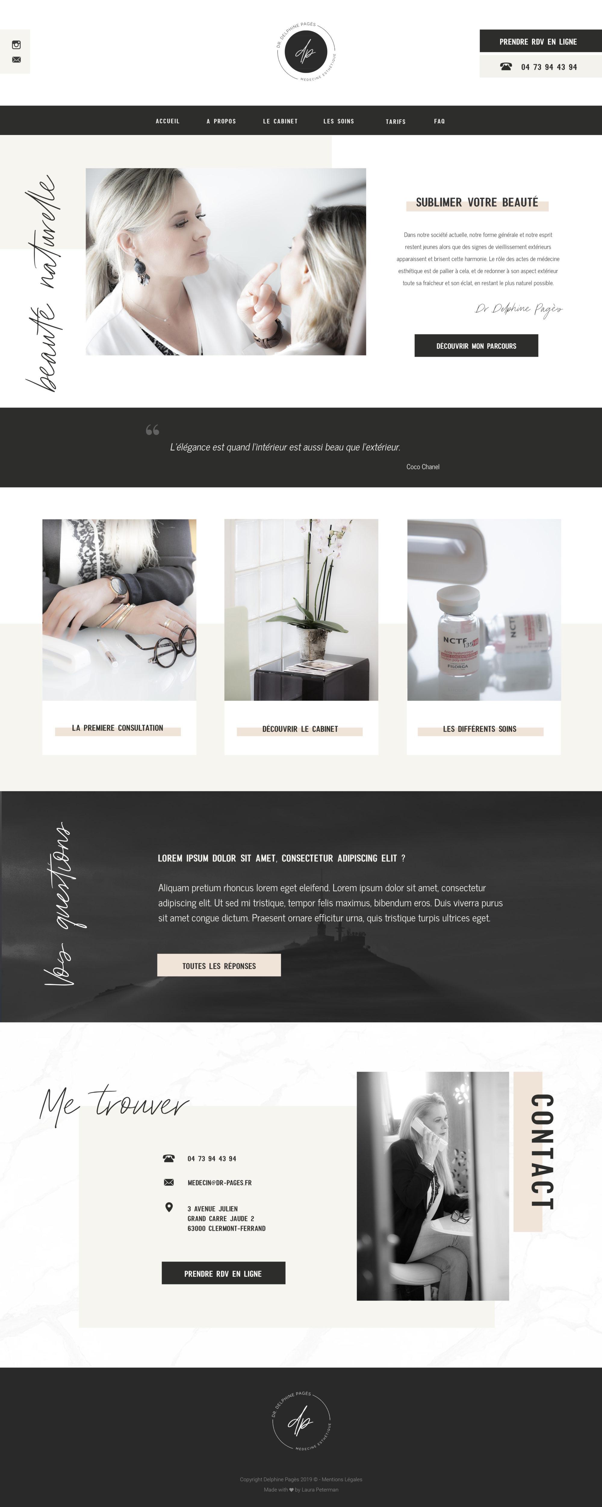 Création de site web Docteur Delphine Pages